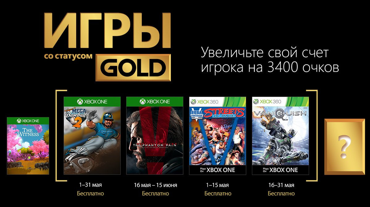 Xbox Gold Май 2018