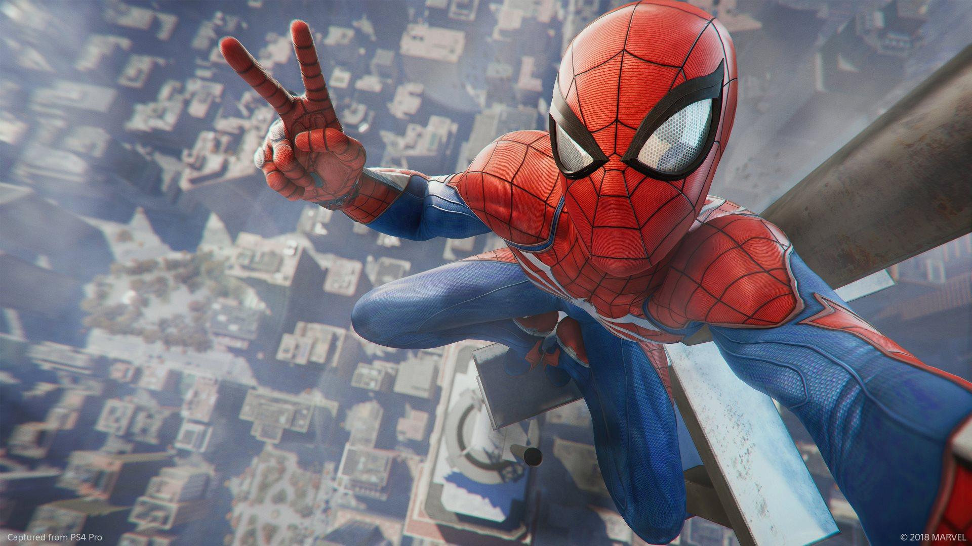 Обзор Marvel's Spider-Man - селфи
