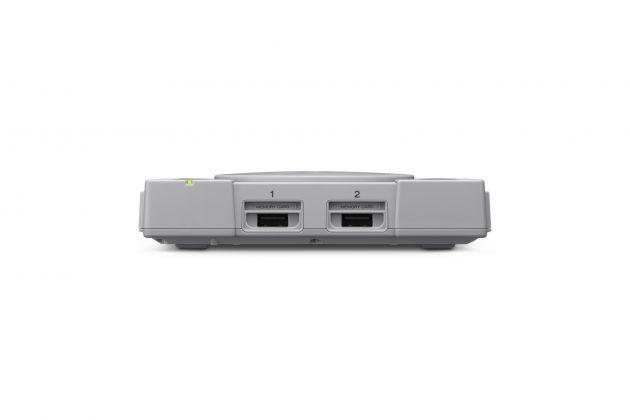 Sony представила миниатюрную PlayStation Classic - вид спереди