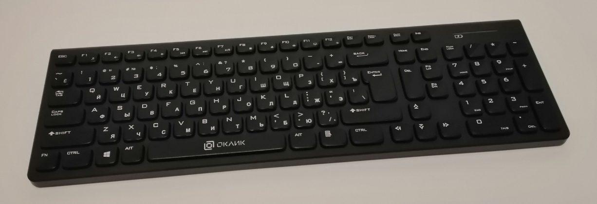 Обзор беспроводной клавиатуры Oklick 880S