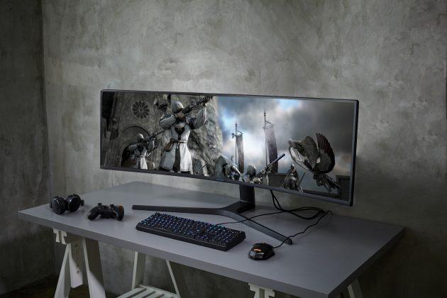 Представлены три новых монитора Samsung Samsung CRG9 super ultra-wide gaming monitor