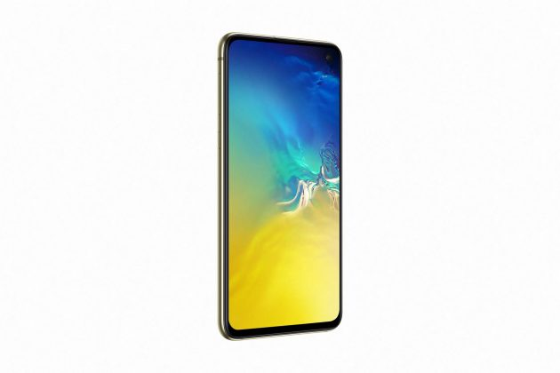 Galaxy S10e Canary Yellow_side