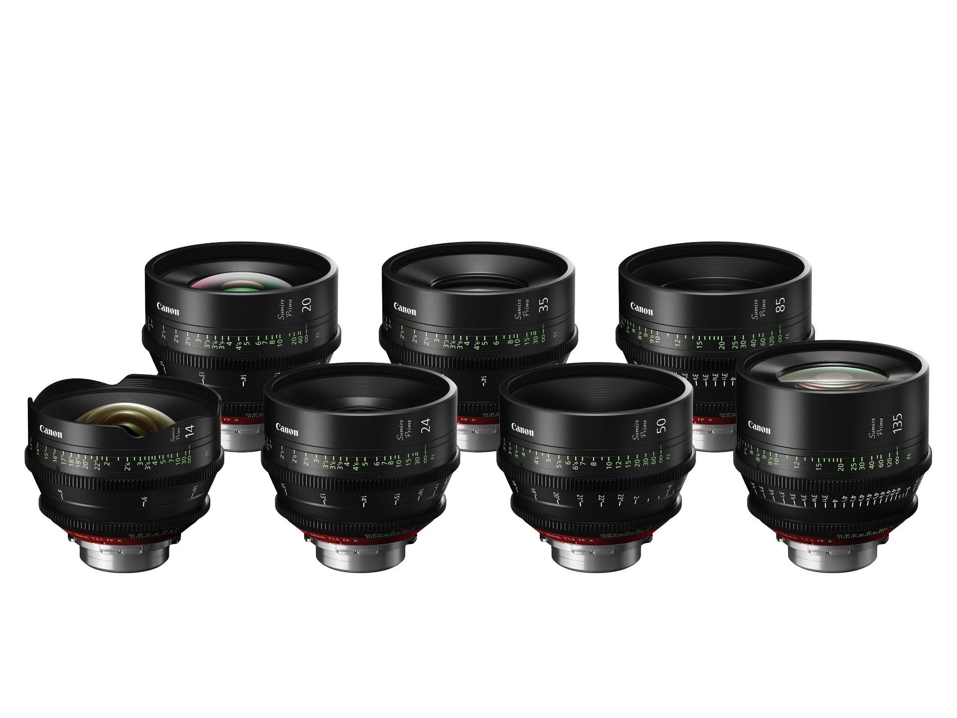 Компания Canon выпускает серию объективов Sumire Prime