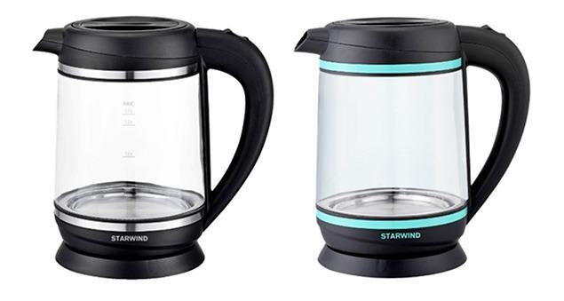 Компания STARWIND представляет две новые модели электрических чайников серии SKG - SKG7740 и SKG6760.
