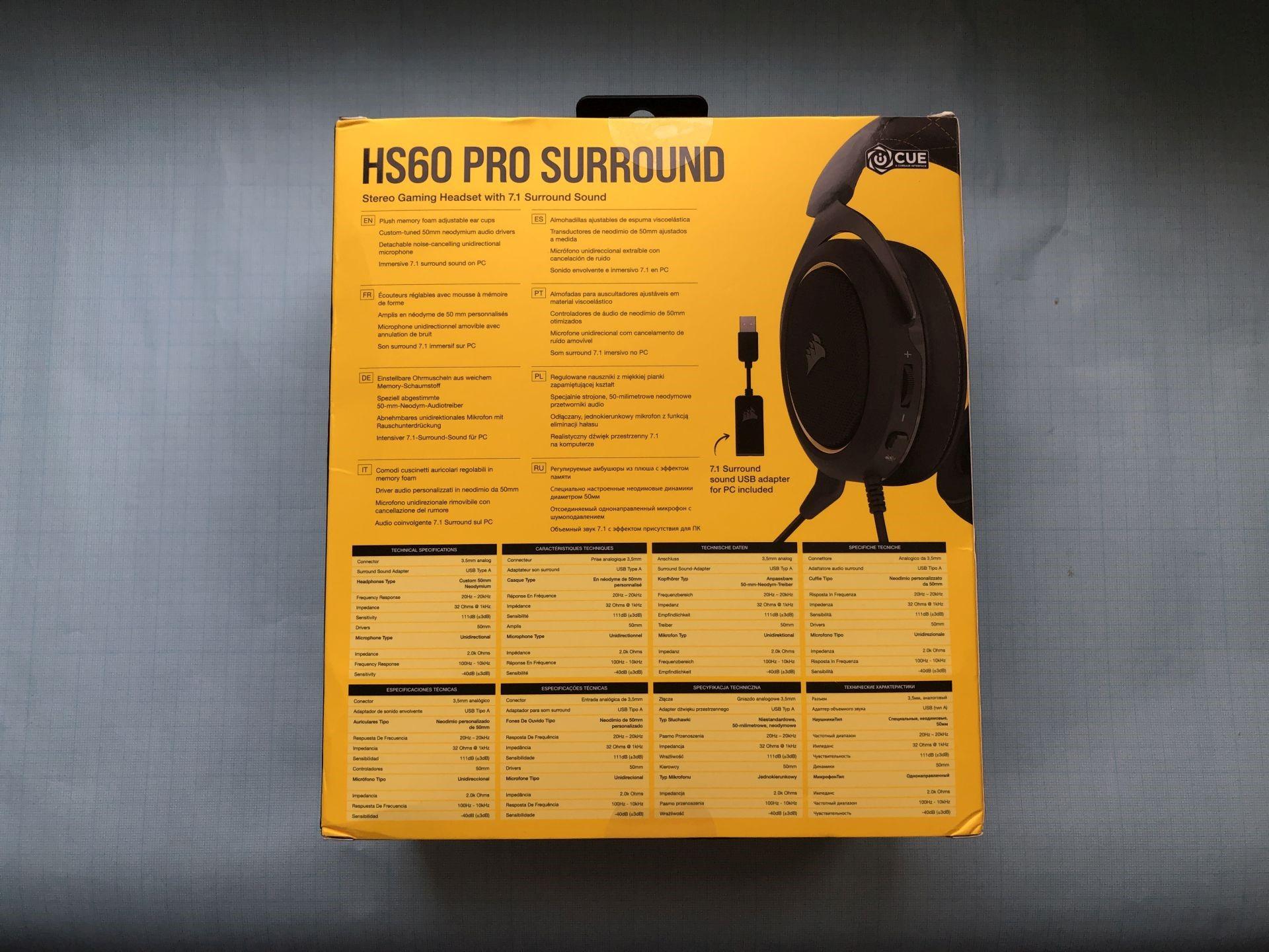 Обзор игровой гарнитуры Corsair HS60 PRO Surround
